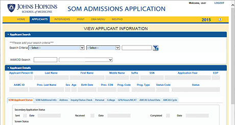 View Admissions Application Sample